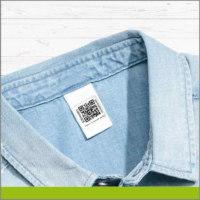 Etiqueta para Ropa con Código QR Color Azul