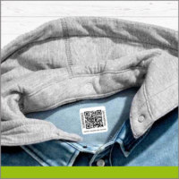 Etiqueta para Ropa con Código QR para Sudadera con Capucha