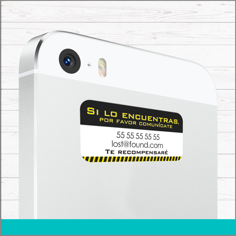 Etiquetas de Vinil Lost And Found para Teléfonos Celulares