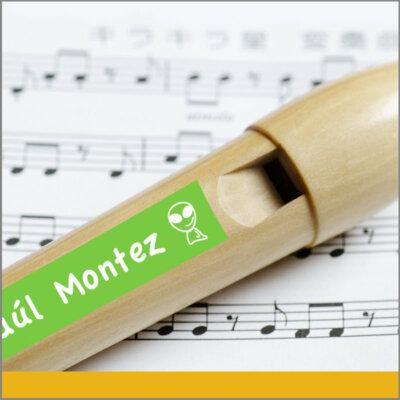 Etiquetas Jumbo de Vinil para instrumentos musicales