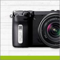 Etiqueta con Identificador QR para Camara Fotográfica