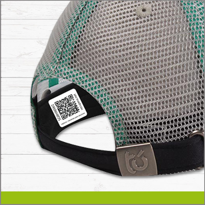 Etiqueta con Identificador QR para Gorra