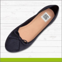 Etiqueta con Identificador QR para Zapato Flat