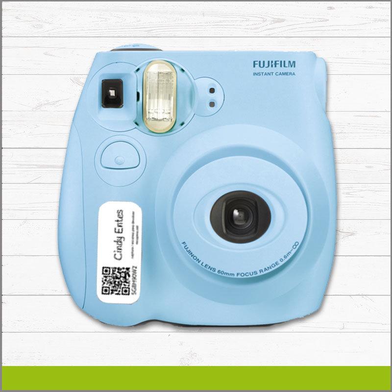 Etiqueta con Identificador QR para Camara Polaroid Recupera hightec