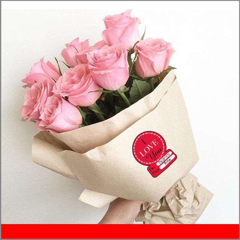 Etiqueta Circular De para Regalos del Dia de San Valentín para el 14 de Febrero