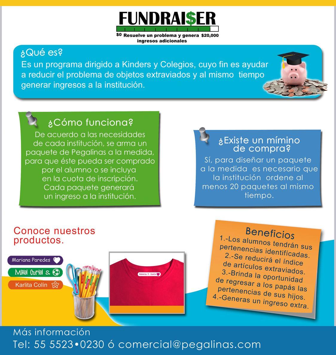 FundRaiser - Programa para kinders y colegios
