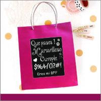 Bolsas Personalizadas para Desear Un Maravilloso Cumpleaños