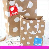 Etiquetas para Regalos De para Color Rojo, Azul y estampado de Corazón