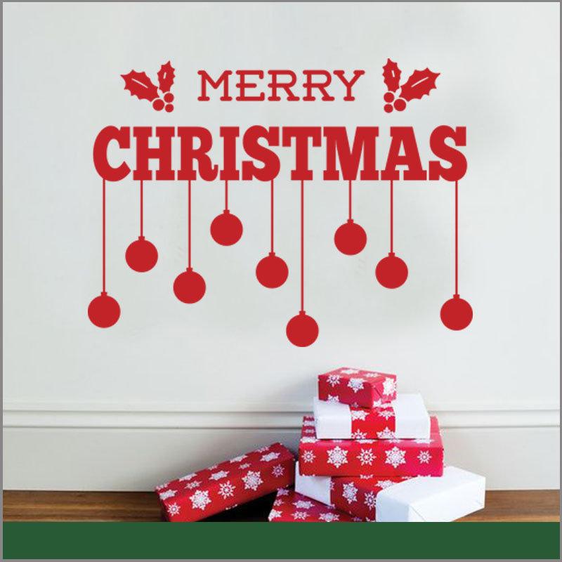 Vinil De Navidad Rojo para La Pared