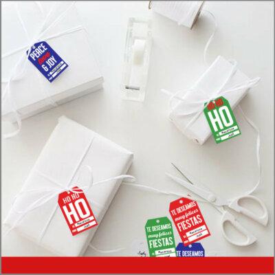 Etiquetas para Regalos de Navidad Diferentes Colores