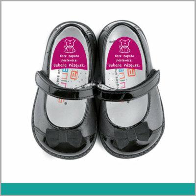 Etiqueta para Calzado para Más los Más Pequeños con Nombre para No Perderlos en Fiestas o Summer Camp