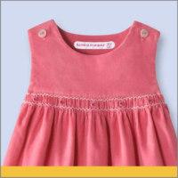 Etiqueta Personalizada para Vestido Rosa De Niños