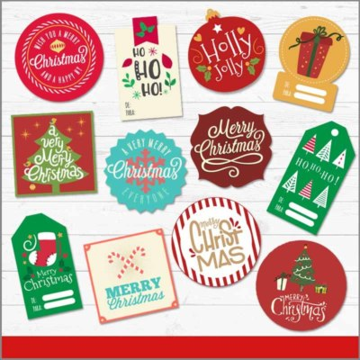 Etiquetas de regalo navideñas