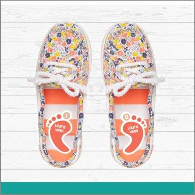 Etiquetas para calzado de pie