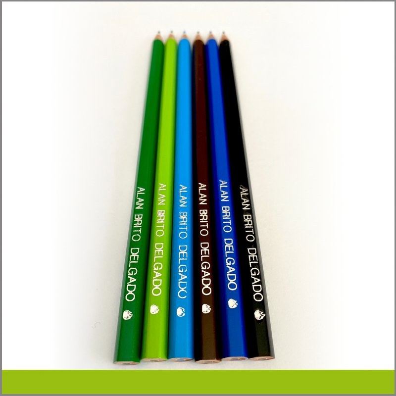 Lápices grabados metálicos