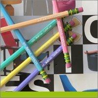 Lápices grabado metálico
