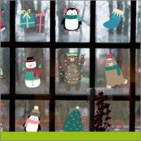 Figuras ventana navidad