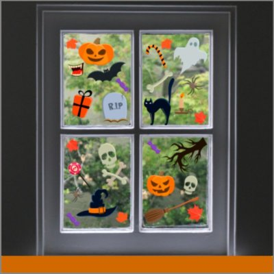 halloween ventana figura adherible