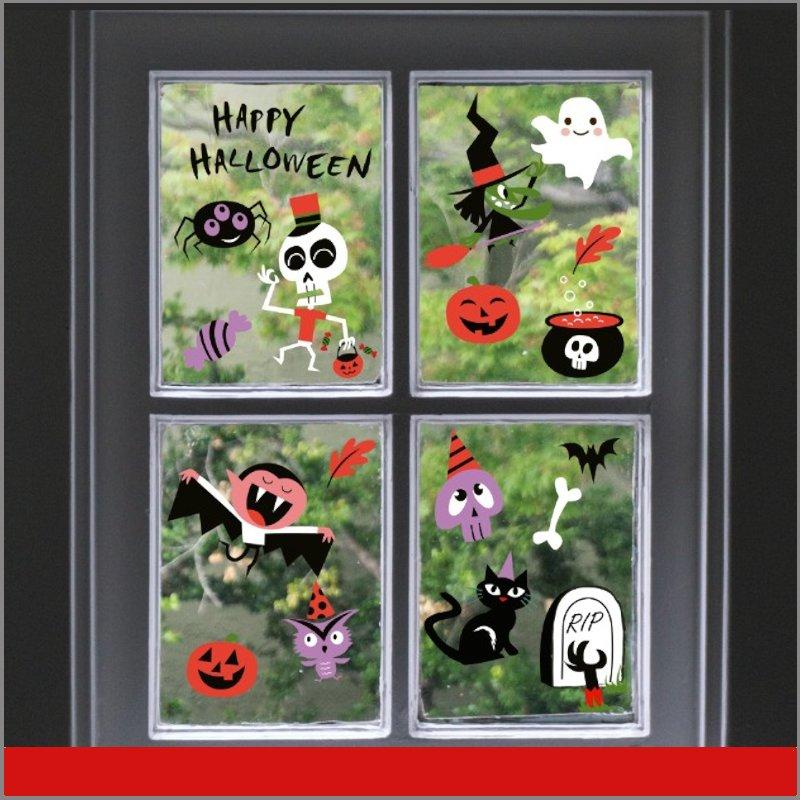Figuras Halloween autoadheribles ventana pared