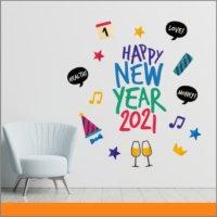 Año nuevo 2021 - vinil adhesivo