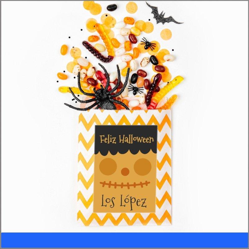 Etiquetas de regalo personalizable Halloween